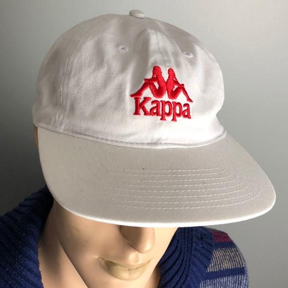 589e5e0ba5 Kappa Other - Kappa White Adjustable VTG Dad Hat Red Logo